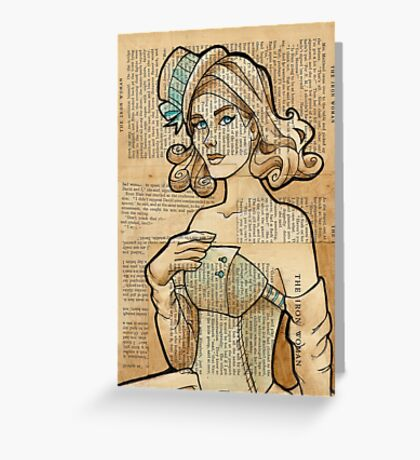 Iron Woman 7 Greeting Card