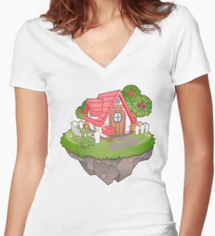 Home Sweet Home Fitted V-Neck T-Shirt