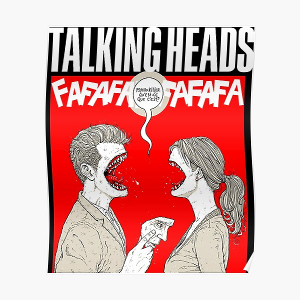 Talking Heads Psycho Poster