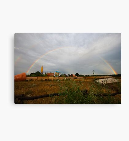 Pot of gold over St Alban's Canvas Print