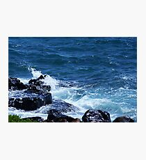 Waves on the Rocks Photographic Print