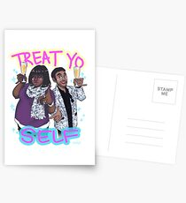 Treat Yo Self Postcards
