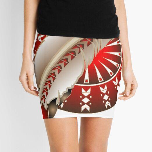 Wacipi Pow Wow (Red) Mini Skirt