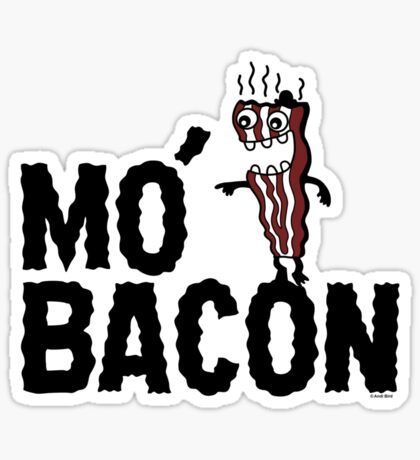 MO' BACON on lights Sticker