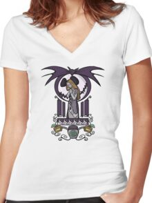 Nightmare Nouveau Women's Fitted V-Neck T-Shirt