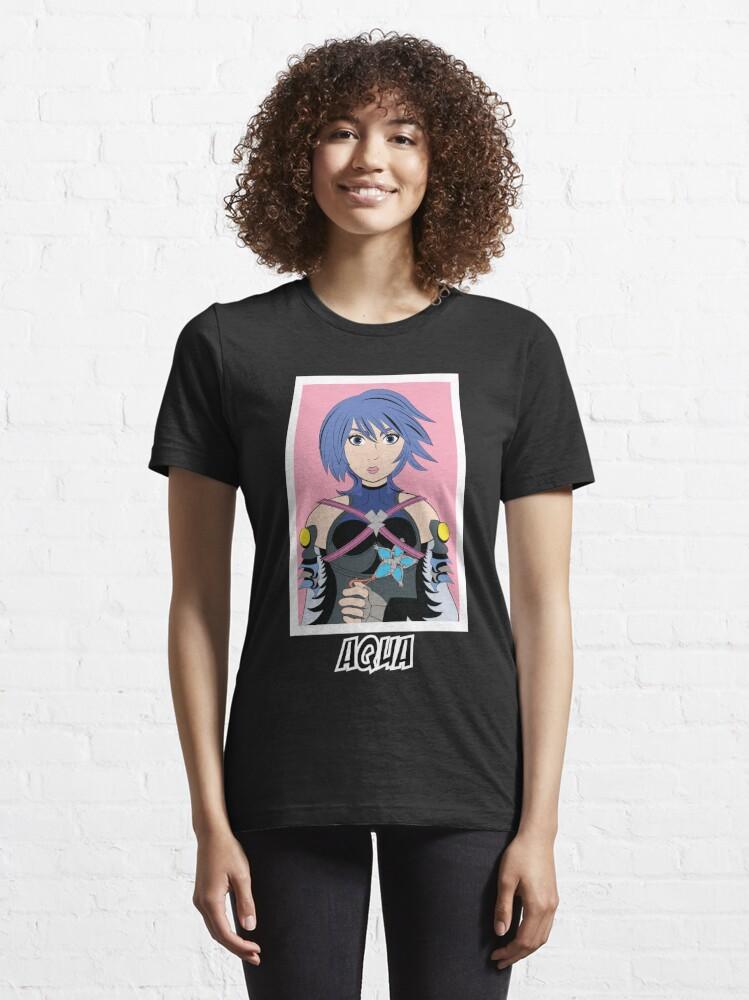Alternate view of Aqua Kingdom Hearts Essential T-Shirt
