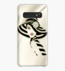 Bride on Gold Silk with a White Rose Case/Skin for Samsung Galaxy