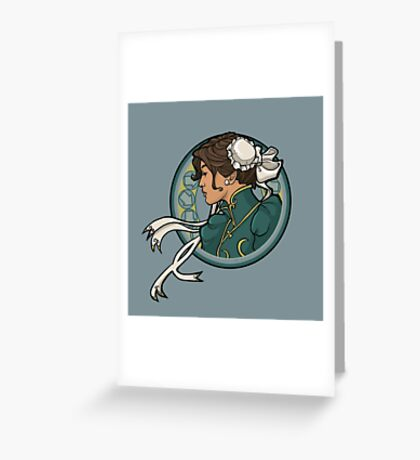 Chun-Li Nouveau Greeting Card