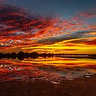 Sunset Reflections at Malcom Dam by robcaddy