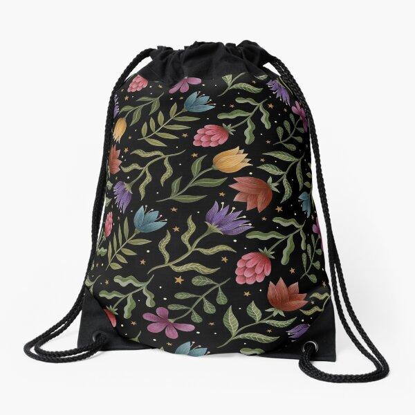 Summer night garden Drawstring Bag