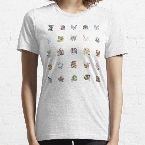 Monster Hunter World Tiled Icons Essential T-Shirt