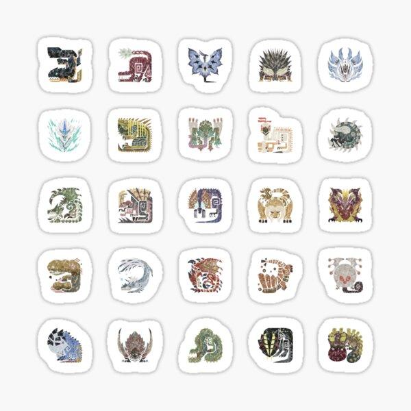 Icônes carrelées Monster Hunter World Sticker