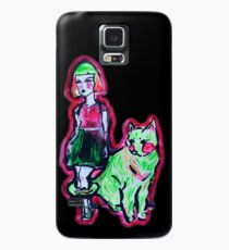 Space Cat and Neon Friend Case/Skin for Samsung Galaxy