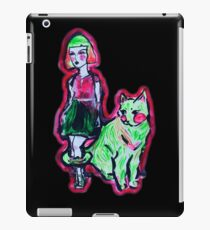 Space Cat and Neon Friend iPad Case/Skin