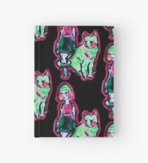 Space Cat and Neon Friend Hardcover Journal