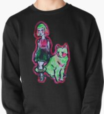 Space Cat and Neon Friend Pullover