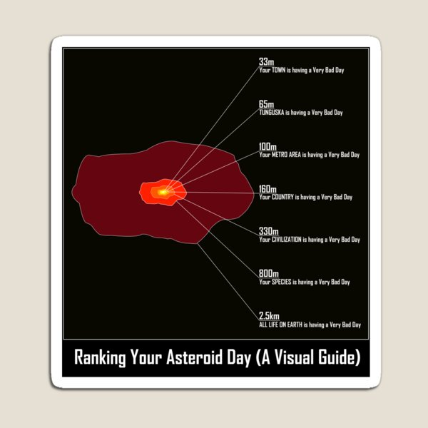 Ranking Your Asteroid Day (A Visual Guide) Magnet