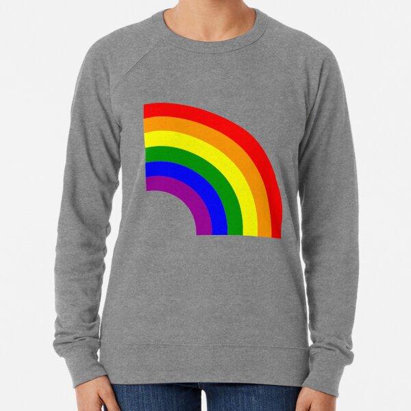 LGBT Gay Matching Couple Half Rainbow Lightweight Sweatshirt