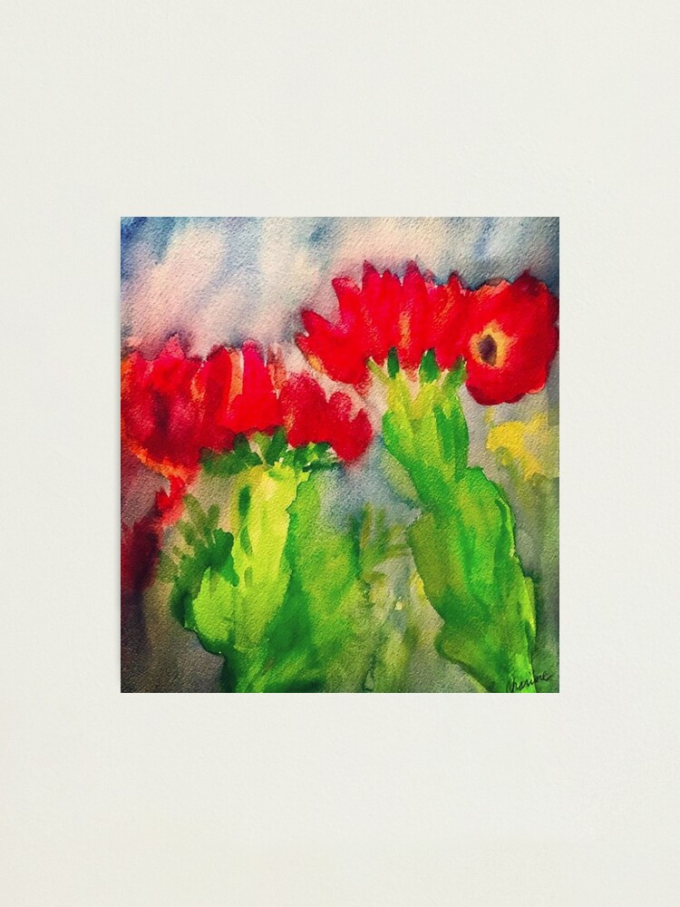 Alternate view of Cactus Flowers Photographic Print