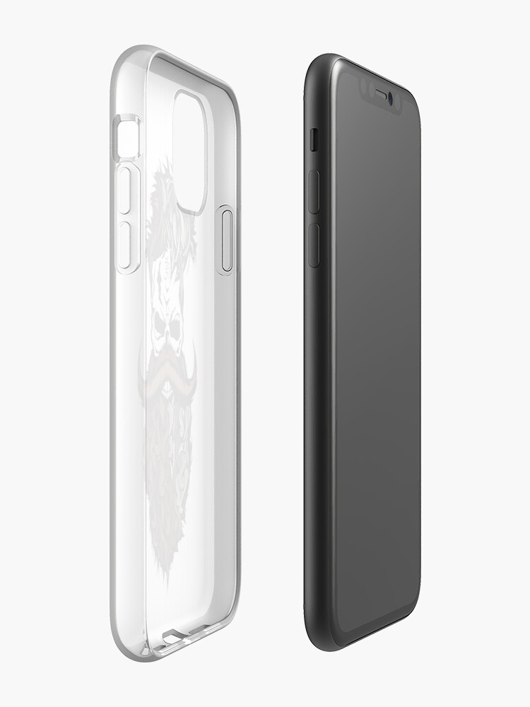 étui iphone xs transparent | Coque iPhone « Pirate Hipster  », par Maxime1996