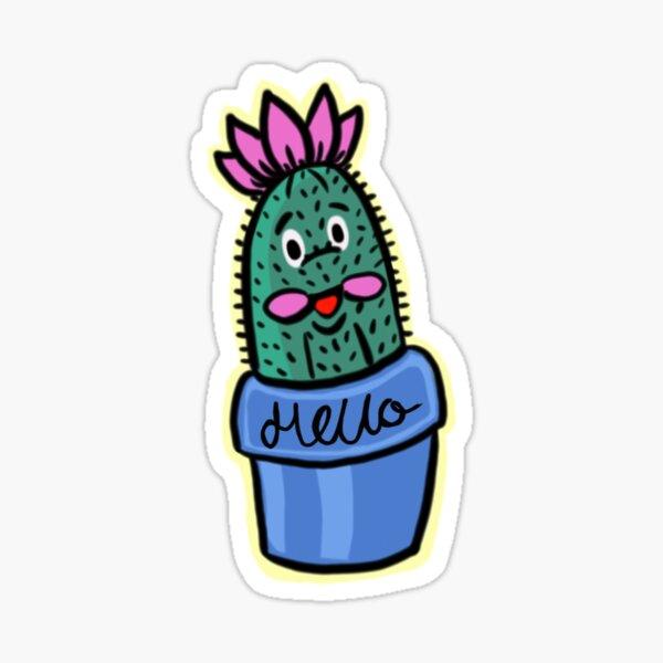 Hello Cactus  Sticker