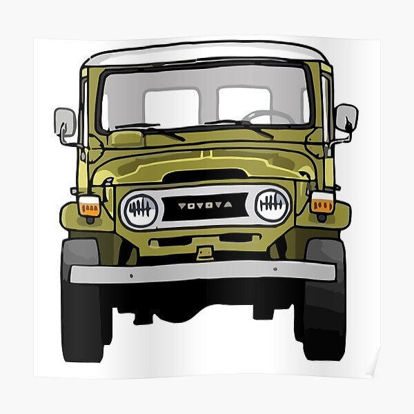 Copy of Toyota Land Cruiser FJ40 - Front Poster