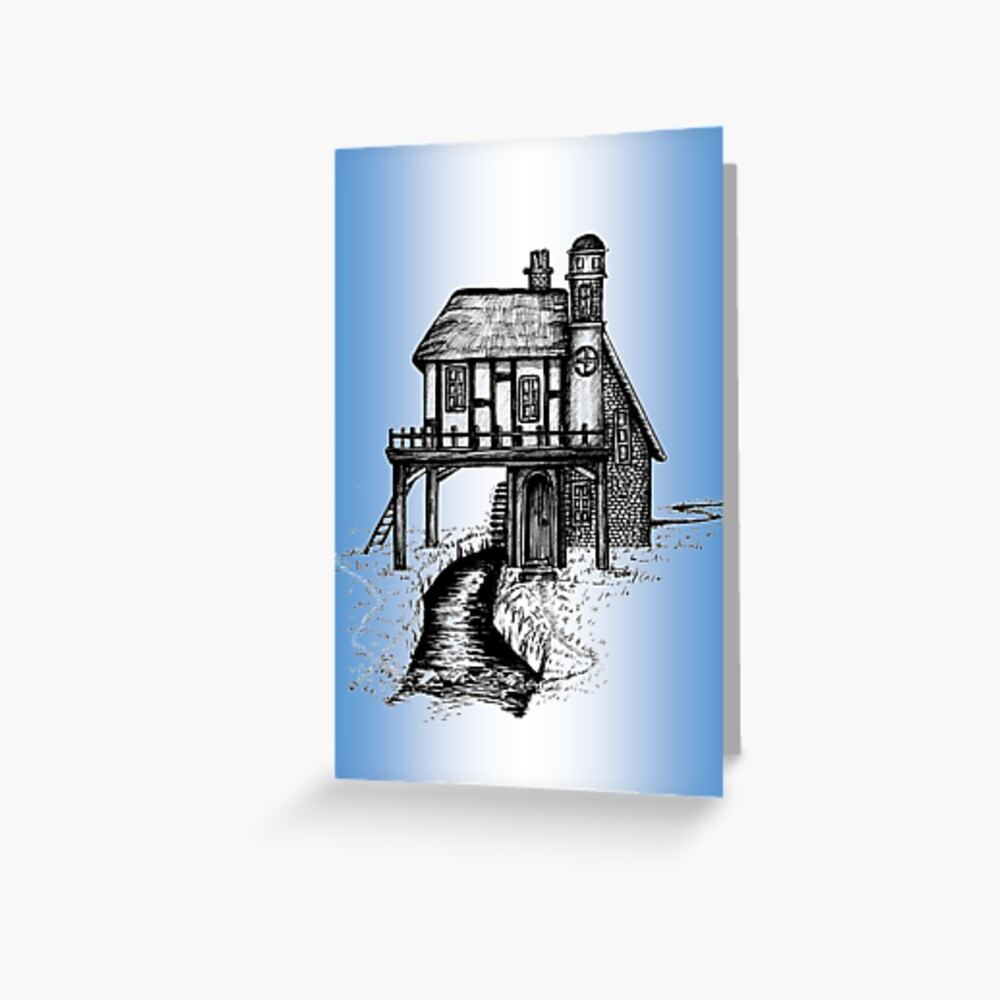 House with a View Greeting Card (Blank) Greeting Card