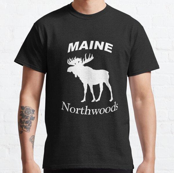 Maine Northwoods Moose Design Classic T-Shirt