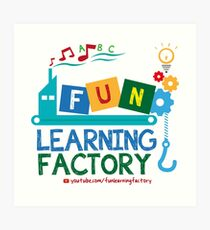 Fun Learning Factory Official Logo Art Print