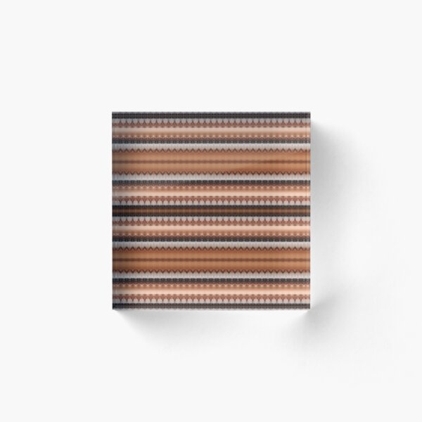 #pattern, #design, #textile, #abstract, decoration, industry, wool, element, art Acrylic Block