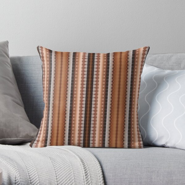 #pattern, #design, #abstract, #textile, decoration, steel, repetition, rusty, retro style Throw Pillow
