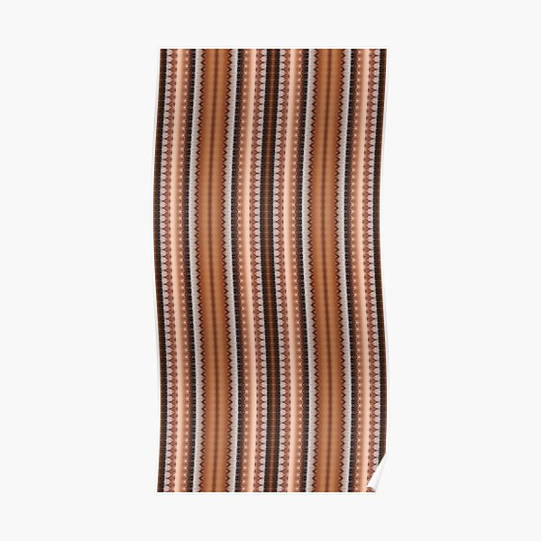 #pattern, #design, #abstract, #textile, decoration, steel, repetition, rusty, retro style Poster