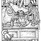 Edgar Allen Poe by Psychoskin