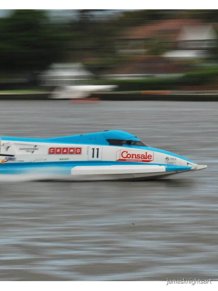 Powerboat Racing at Oulton Broad - Scott Curtis - Formula Grand Prix by jamesknightsart