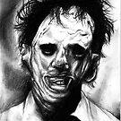 Leatherface Portrait by Psychoskin