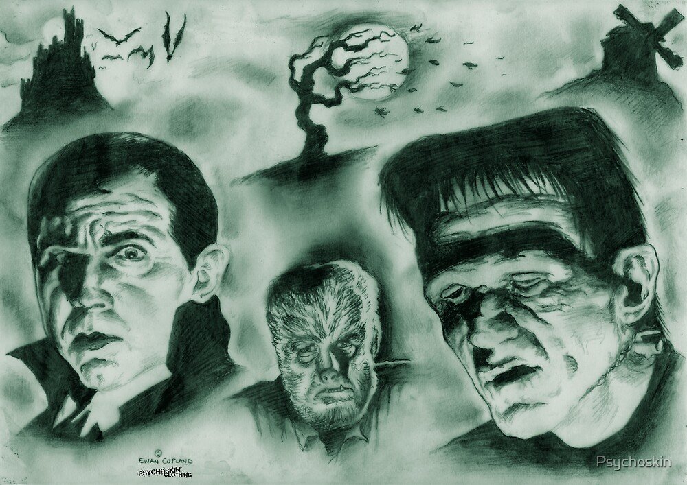 Famous Monsters by Psychoskin