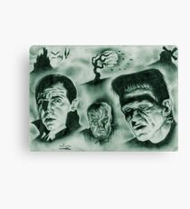 Famous Monsters Canvas Print