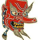 Tengu Mask by johnreardontat2