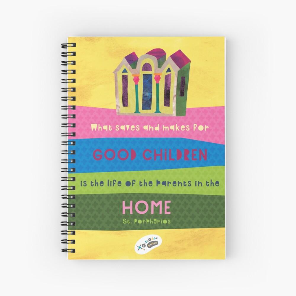 St. Porphyrios quote Spiral Notebook