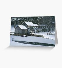 Mabry Mill - Winter Greeting Card
