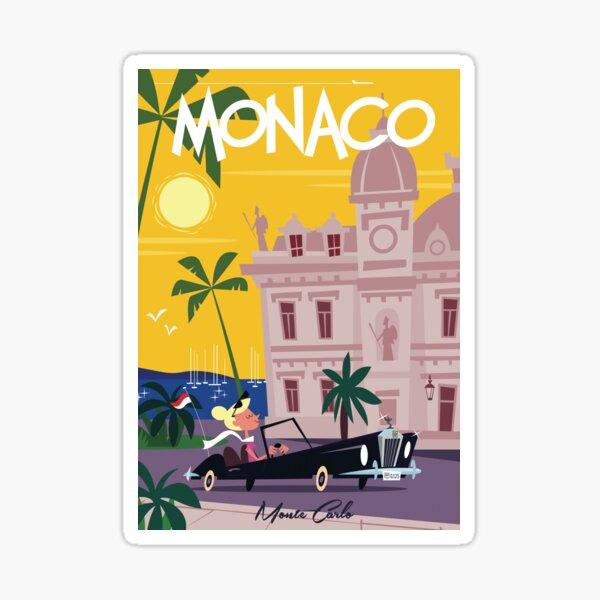 Monaco poster Sticker