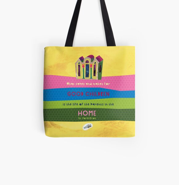 St. Porphyrios quote All Over Print Tote Bag