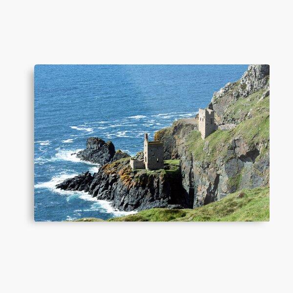 Botallack Crown Engine Houses Cornwall Metal Print