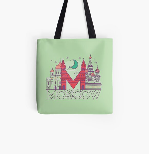 Moscow All Over Print Tote Bag