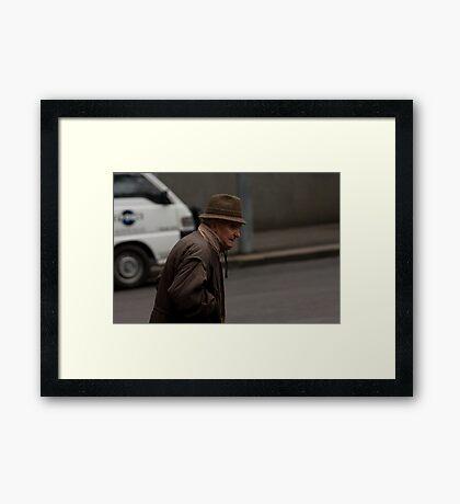 A Cold City Framed Print