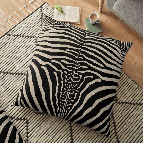 Zebra Stripes Print Skin Hide   Texture  Floor Pillow