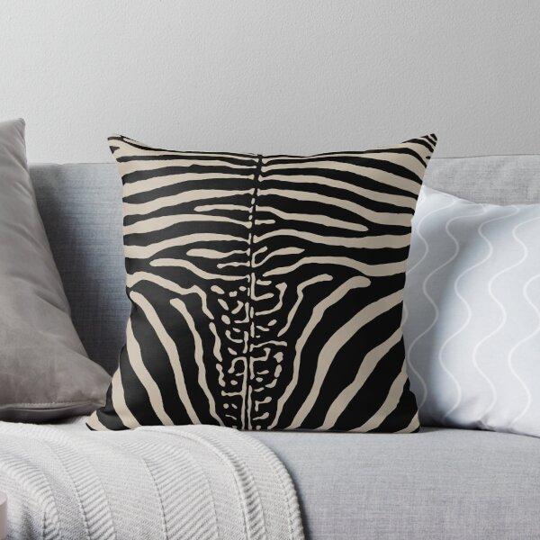 Zebra Stripes Print Skin Hide   Texture  Throw Pillow