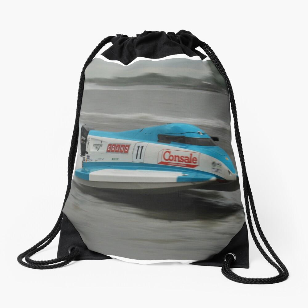 Powerboat Racing at Oulton Broad - Formula Grand Prix - Scott Curtis Drawstring Bag