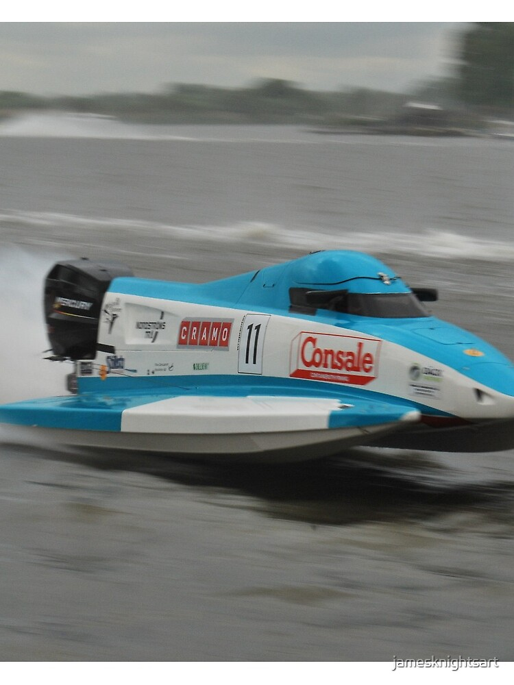 Powerboat Racing at Oulton Broad - Formula Grand Prix - Scott Curtis by jamesknightsart