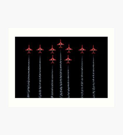 Red Arrows - RAF Art Print